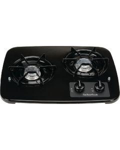 Suburban Mfg 2 Burner Drop-In Cooktop Black - Drop-In Cooktop