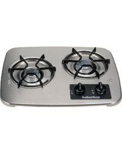 Suburban Mfg 2 Burner Drop-In Cooktop S.S. - Drop-In Cooktop