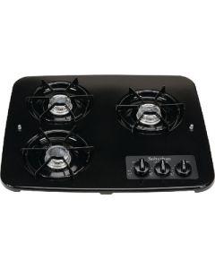 Suburban Mfg 3 Burner Drop-In Cooktop Black - Drop-In Cooktop