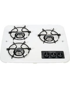 Suburban Mfg 3 Burner Drop-In Cooktop White - Drop-In Cooktop