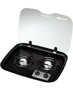 Suburban Mfg Cover For 2 Burner Drop-In - Flush Mount Glass Cover