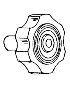 Strybuc Industries Black Plastic Knob W/Screw - Strybuc Window Parts