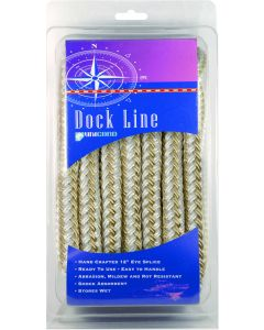 "Unicord Dock Line, 3/8"" x 15', Black"