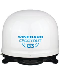Carryout G3 Wht Port Sat Ant. - Carryout&Reg; G3 Satellite Antenna
