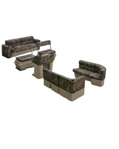 Wise Scout Series Fishing Camo Pontoon Group, Shadow Grass Vinyl
