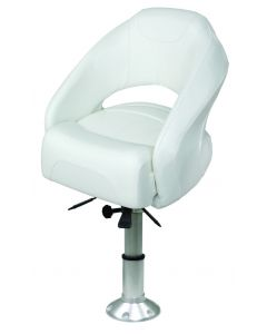 "Wise Bolster Bucket with Mainstay 2 7/8"" Pedestal, Brite White 8WD1217-13-784"