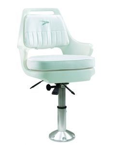 """Wise Standard Pilot Chair with Mainstay 2 3/8"""" Pedestal, White"""