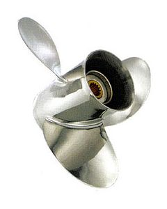 """Solas Saturn  9.25"""" x 8"""" pitch Standard Rotation 3 Blade Stainless Steel Boat Propeller"""