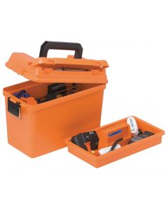 Plano Extra Large Dry Emergency Supply Box w/ tray, Orange