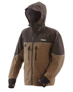 Frabill F3 Gale Rainsuit Jacket (Brown, Small)