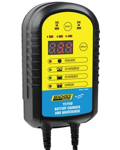 Seachoice Battery Charger And Maintainer 12V-24V 4-8 AMP