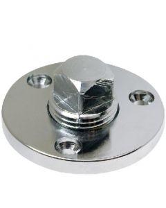 """Seachoice Chrome/Brass Garboard Drain Plug-1/2"""" Pipe"""