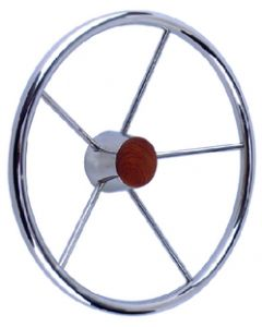 Seachoice Destroyer 15 Steering Wheel, Stainless Steel