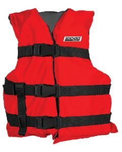 Seachoice Blk/Red Youth Vest