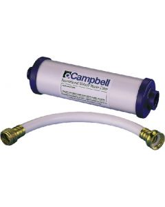 Campbell Mfg  Rec. Veh. Filter W/12  Hose - In-Line Disposable Rv Filter