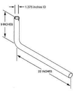 Tail Pipe Kit Onan Gen-Set 22 - Tailpipe Kit For Hgjaa/Hgjab