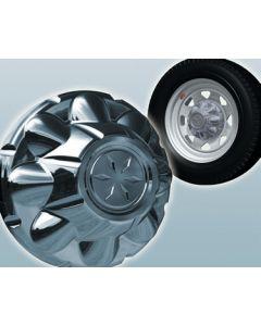 Dicor Corporation 5 Lug Abs Hub Cover Chrome - Versa-Lok&Reg; Abs Hub Covers