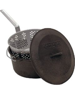 Fry Pot Set-Cast Iron 7.5 Qt - Cast Iron Fry Pot Set