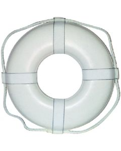 Cal-June 30 White Ring Buoy W/Straps