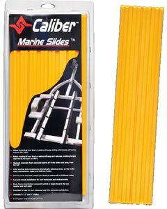 "Caliber Marine Slides, Yellow, 1.5"" x 15"" (10-Pack)"
