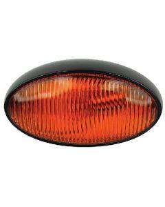 Prch Ovl W/O Swth Blk Base Amb - Oval Porch/Utility Light