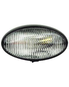 Prch Ovl W/Swtch Blk Bas Clear - Oval Porch/Utility Light