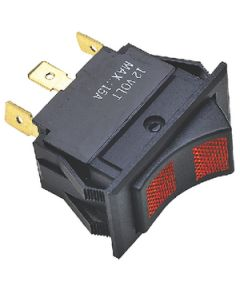 Rocker Switch On (Red)/Off/On (Red)