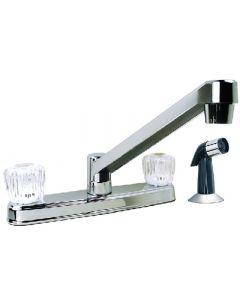 Kitchen Faucet W Sidespry 1.5 - Double Handle Kitchen Faucet