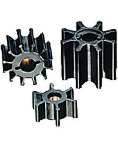 Jabsco Impeller, Neoprene, 5/16 Shaft, 8 Blade, 1 1/4 Diameter, Brass Insert