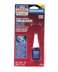 Permatex Medium Strength Threadlocker, Blue, 2.5 ml