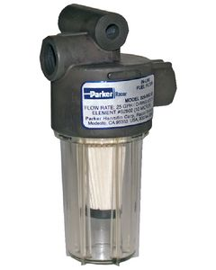 Racor 10 Micron In-Line Gasoline Fuel Filter, 250gph