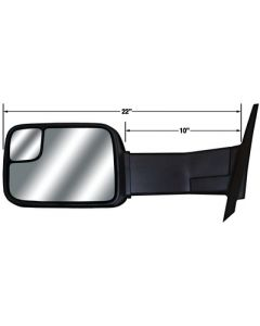 Cipa Mirrors 03-08 Ram Manual Ext Mirror - Magna Extendable Replacement Towing Mirrors