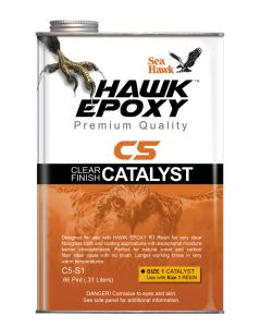 Seahawk Clear Finish Catalyst Size 1, .66 PT - Hawk Epoxy