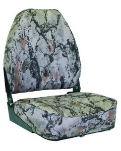 High Back Camo Folding Boat Seat, High Back - Wise