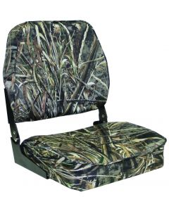 Low Back Camo Folding Boat Seat Low Back - Wise