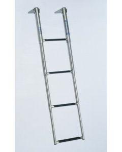 "Windline Marine Windline 4-Step Over Platform Telescoping Boat Ladder 44"""