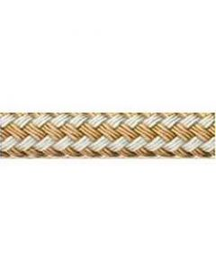"Buccaneer Rope Buccaneer Double Braided Dock Line 1/2"" x 300', Gold/White"