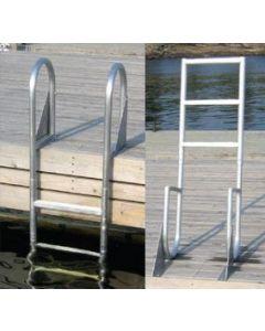 Dock Edge Dock Ladder 4 Step Flip Up Aluminum