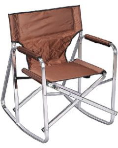Ming's Mark Camping Chair Rocker Brown - Rocking Director'S Chair