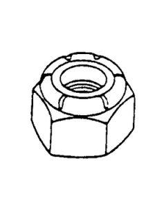Alloy Fasteners Hex Lock Nut 1/2-13 Per 50 - Hex Nylon Insert Lock Nuts