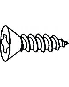 Alloy Fasteners Phillips Tapp Fh 6 3/4 Per 100 - Phillips Tapping Screw - Flat Head