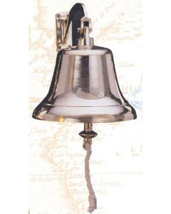 High Shine Hanging Bell with Bracket, Brass, 8""