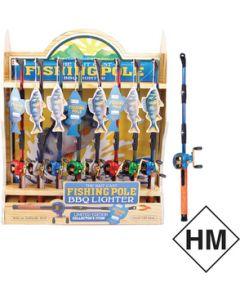 Bait-Cast Fishing Pole Disp.16 - Bait-Cast Fishing Pole Bbq Lighter