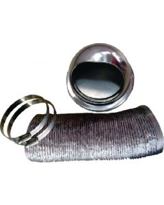 Outside Vent Kit Stainless - Dryer Exhaust Vent