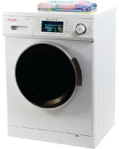 Super Combo Wht W/Silver Trim - Super Combo Washer And Dryer
