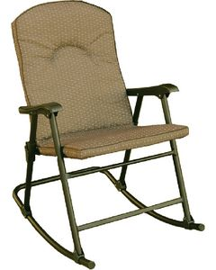Prime Products Rocker-Cambria Desert Taupe - Cambria Folding Padded Rocker Chair