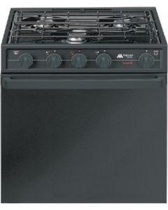 Range/Oven 17In 3-Burner Black - Vision High Output Ranges