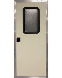 Door-Rv Sq Rh Off-White 24X76 - Rh Square Entry Door