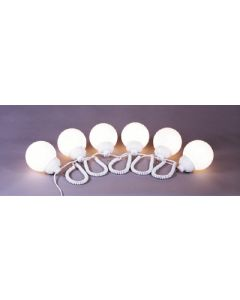 Polymer Products LLC White Fixture/Wht 6In Globes - Globe Lights