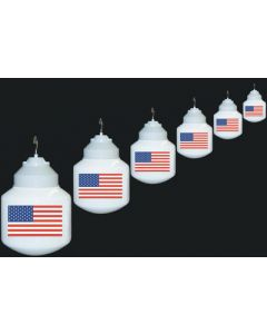 Polymer Products LLC Us Flag Lights Set Of 6 - Globe Lights